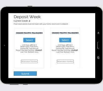 Deposit your week
